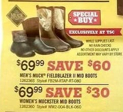 Tractor Supply Co Black Friday: Men's Muck Fieldblazer II Mid Boots for $69.99