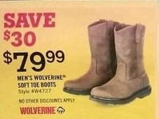 Tractor Supply Co Black Friday: Men's Wolverine Soft Toe Boots for $79.99