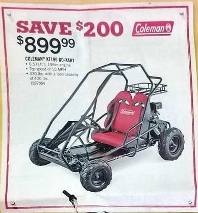 Tractor Supply Co Black Friday: Coleman KT196 Go-Kart for $899.99