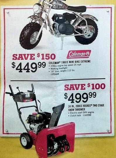 Tractor Supply Co Black Friday: Coleman 196cc Mini Bike Extreme for $449.99