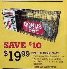 Tractor Supply Co Black Friday: 2-pk. Live Animal Traps for $19.99
