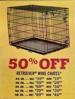 Tractor Supply Co Black Friday: Retriever Wire Crates - 50% Off