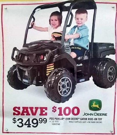 Tractor Supply Co Black Friday: Peg Perego John Deere Gator Ride-on Toy for $349.99