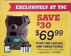 Tractor Supply Co Black Friday: Vision 14MP Lightsout Game Camera Package for $69.99