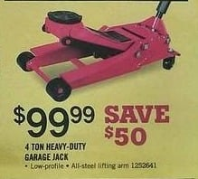 Tractor Supply Co Black Friday: 4-ton Heavy-Duty Garage Jack for $99.99