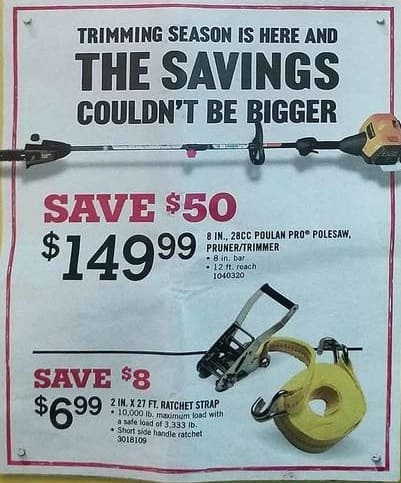 Tractor Supply Co Black Friday: 8-in. 28cc Poulan Pro Polesaw Pruner/Trimmer for $149.99