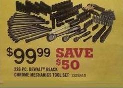Tractor Supply Co Black Friday: 226-pc. Dewalt Black Chrome Mechanics Tool Set for $99.99