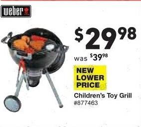 Lowe's Black Friday: Weber Children's Toy Grill for $29.98