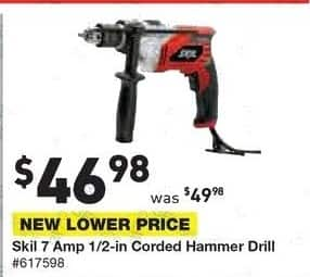 Lowe's Black Friday: Skil 7 Amp 1/2-in Corded Hammer Drill for $46.98