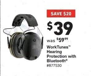 Lowe's Black Friday: WorkTunes Hearing Protection with Bluetooth for $39.00