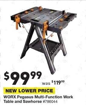 Lowe's Black Friday: Worx Pegasus Multi-Function Work Table and Sawhorse for $99.99