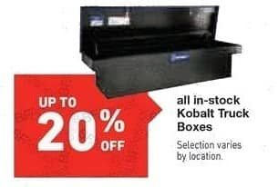Lowe's Black Friday: All In-Stock Kobalt Truck Boxes - Up to 20% Off