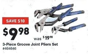 Lowe's Black Friday: 3-pc. Groove Joint Pliers Set for $9.98