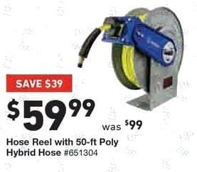 Lowe's Black Friday: Hose Reel with 50-ft. Poly Hybrid Hose for $59.99