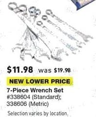 Lowe's Black Friday: 7-pc. Wrench Set for $11.98