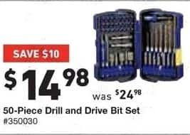 Lowe's Black Friday: Kobalt 50-pc. Drill and Drive Bit Set for $14.98