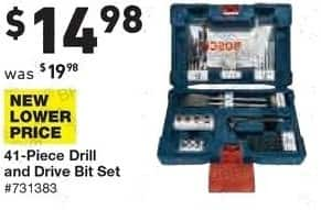 Lowe's Black Friday: Bosch 41-pc. Drill and Drive Bit Set for $14.98