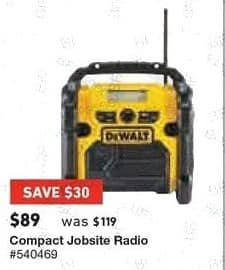 Lowe's Black Friday: Compact Jobsite Radio for $89.00