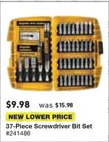 Lowe's Black Friday: 37-pc. Screwdriver Bit Set for $9.98
