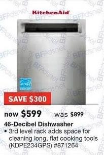 Lowe S Black Friday Kitchenaid 46 Decibel Dishwasher