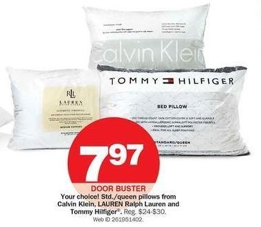 Bon-Ton Black Friday: Calvin Klein, Ralph Lauren & Tommy Hilfiger Pillows for $7.97