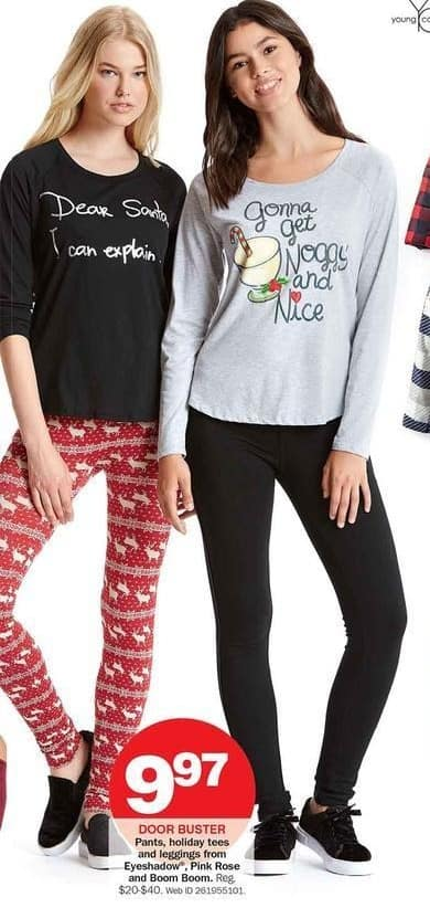 Bon-Ton Black Friday: Holiday Tees, Pants & Leggings for $9.97