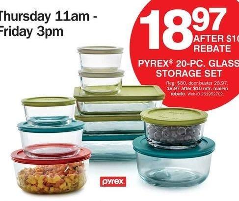 Bon-Ton Black Friday: Pyrex 20-pc Glass Storage Set for $18.97