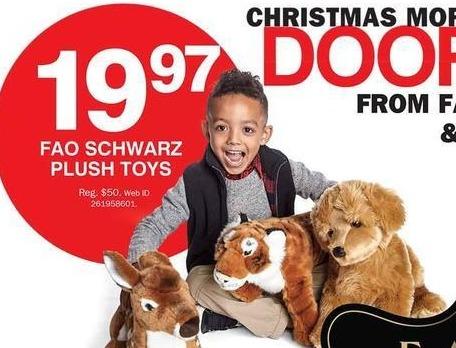 Bon-Ton Black Friday: FAO Schwarz Plush Toys for $19.97