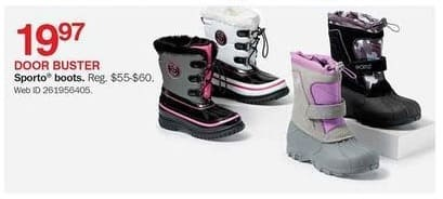 Bon-Ton Black Friday: Kids' Sporto Boots for $19.97