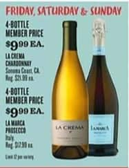 Cost Plus World Market Black Friday: (4) La Crema Chardonnay, Each for $9.99