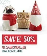 Cost Plus World Market Black Friday: All Ceramic Cookie Jars - 50% Off
