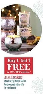 Cost Plus World Market Black Friday: All Filled Candles - B1G1 Free