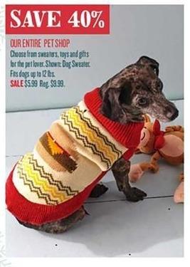 Cost Plus World Market Black Friday: Entire Stock Pet Shop - 40% Off