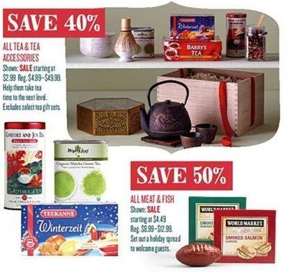 Cost Plus World Market Black Friday: All Tea and Tea Accessories - 40% Off