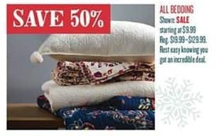 Cost Plus World Market Black Friday: All Bedding - 50% Off