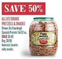 Cost Plus World Market Black Friday: All Utz Brand Pretzels and Snacks - 50% Off