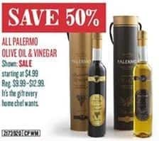 Cost Plus World Market Black Friday: All Palermo Olive Oil and Vinegar - 50% Off