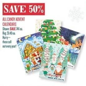 Cost Plus World Market Black Friday: All Candy Advent Calendars - 50% Off