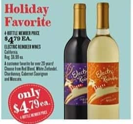 Cost Plus World Market Black Friday: (4) Electric Reindeer Wines, Each for $4.79