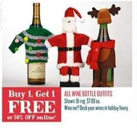Cost Plus World Market Black Friday: All Wine Bottle Outfits - B1G1 Free