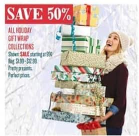 Cost Plus World Market Black Friday: All Holiday Gift Wrap Collections - 50% Off