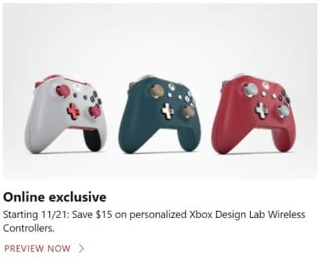 Microsoft Store Black Friday: Personalized Xbox Design Lab Wireless Controllers - $15 Off
