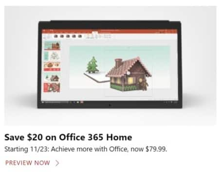 Microsoft Store Black Friday: Office 365 Home for $79.99