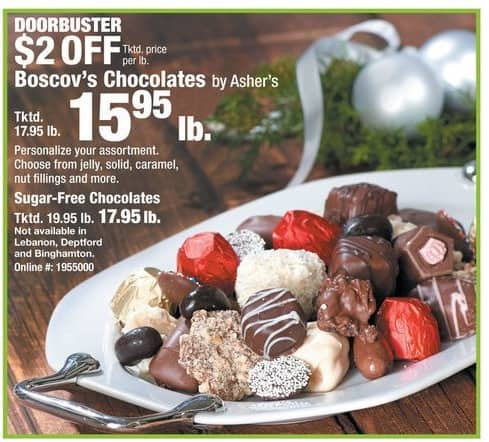 Boscov's Black Friday: Boscov's Sugar-Free Chocolates (1-lb.) for $17.95