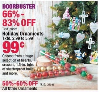 Boscov's Black Friday: Holiday Ornaments for $0.99