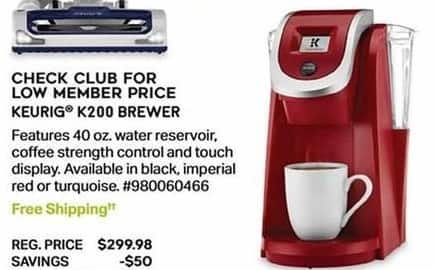 Sam's Club Black Friday: Keurig K200 Brewer - TBA