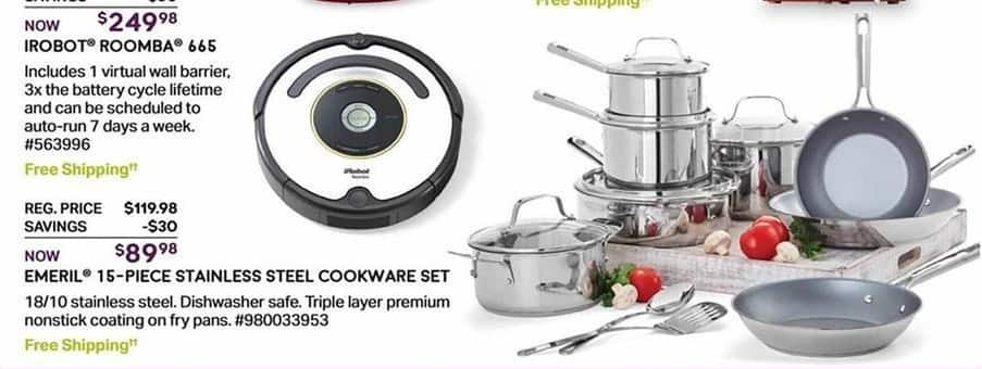 Sam's Club Black Friday: Emeril 15-pc. Stainless Steel Cookware Set for $89.98