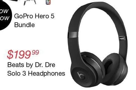 Overstock Black Friday: Beats by Dr. Dre Solo 3 Headphones for $199.99