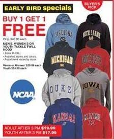 Dunhams Sports Black Friday: Men's, Women's or Kids' Tackle Twill Hoods - B1G1 Free