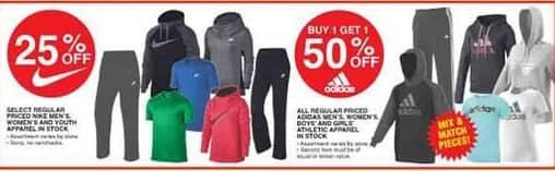 Dunhams Sports Black Friday: All Men's, Women's and Kids' Adidas Athletic Apparel - B1G1 50% Off